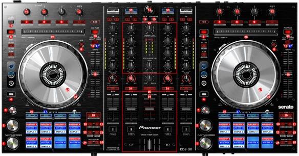DJ ProMixer Pioneer DDJ-SX_map