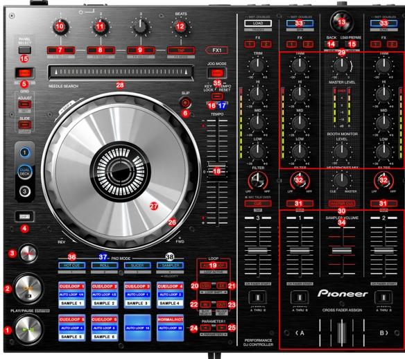 DJ Promixer Pioneer DDJ-SX_map_detail