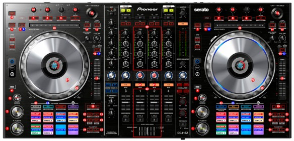 DJ ProMixer Pioneer DDJ-SZ_map