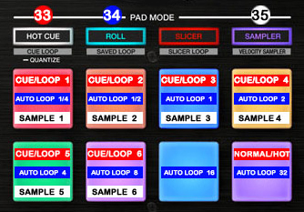 DJ ProMixer Pioneer DDJ-SZ_map_PAD_Mode