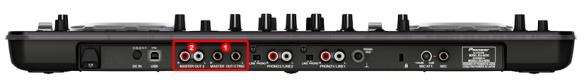 DJ ProMixer Pioneer XDJ-Aero Audio connections