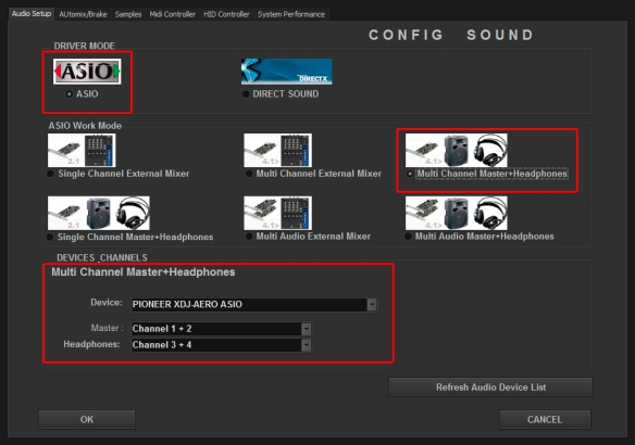 DJ ProMixer Pioneer XDJ-Aero Audio