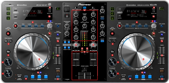 DJ Promixer Pioneer XDJ-R1 map