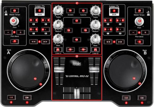 Hercules DJ Control E2 map