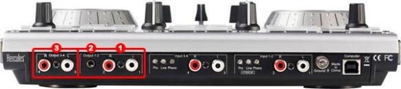 DJ ProMixer Hercules DJ Control MK4 audio connections 2