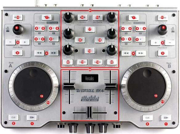 DJ ProMixer Hercules DJ Control MK4 map