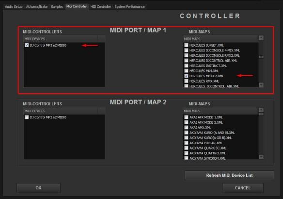 DJ ProMixer MIDI Hercules DJ Control E2