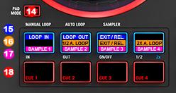 DJ ProMixer MIDI Mixtrack 3 PAD mode detail