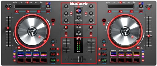 DJ ProMixer Numark Mixtrack Pro III map