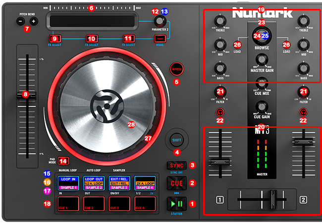 numark mixtrack pro iii dj promixer. Black Bedroom Furniture Sets. Home Design Ideas