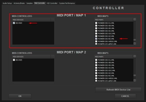 Pioneer DDJ-RZ MIDI