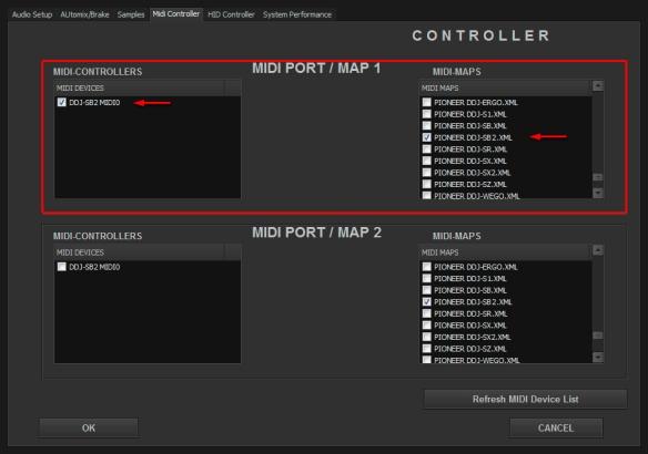 Pioneer DDJ-SB 2 MIDI
