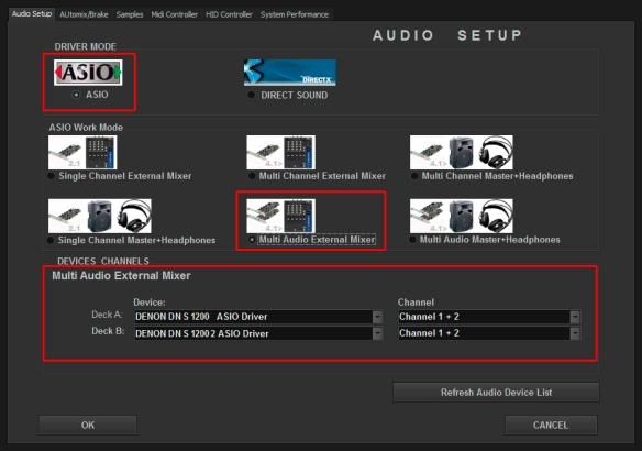 DJ ProMixer ASIO Denon DN S 1200