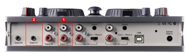 DJ ProMixer Hercules DJ Console MK2 audio connections 2