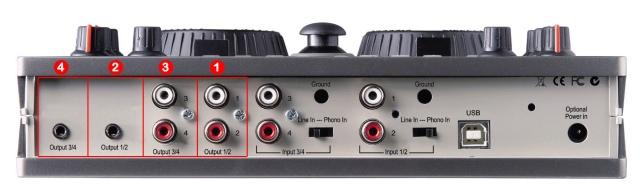 DJ ProMixer Hercules DJ Console MK2 audio connections