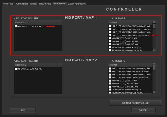 DJ ProMixer HID Hercules DJ Control MP3 (Inverse)
