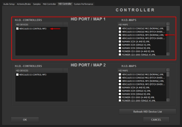 DJ ProMixer HID Hercules DJ Control MP3 (Normal)