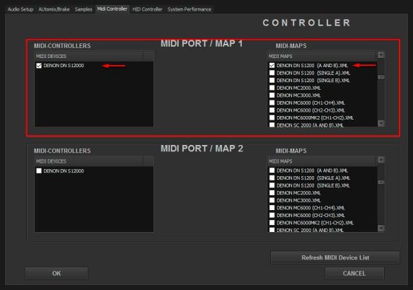 DJ ProMixer MIDI Denon DN S 1200 Dual
