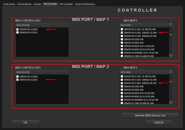 DJ ProMixer MIDI Denon DN S 1200 Single