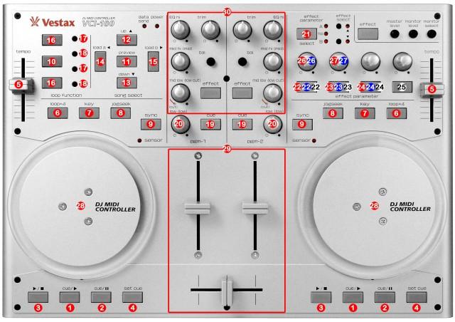 DJ ProMixer Vestax VCI-100 map
